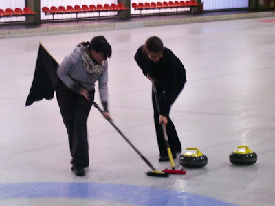 Curling nur mit Flagge